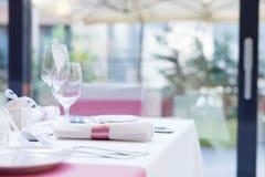Gifta sig tabellinställningar med garnering Fotografering för Bildbyråer
