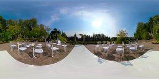 Gifta sig utomhus- ceremoni 360VR