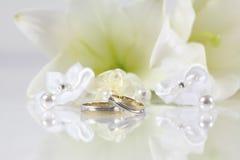 gifta sig white Royaltyfria Foton
