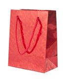 Giftbag vermelho fotografia de stock royalty free