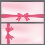 Giftbon, de kaart van de roze valentijnskaart Royalty-vrije Stock Foto