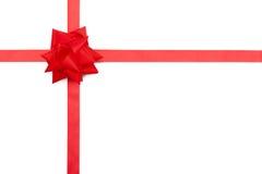 Giftbow rojo de la cinta Foto de archivo libre de regalías