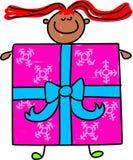 giftbox孩子 图库摄影