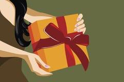 Giftbox Stockfoto