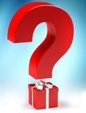 Cadeau avec le questionmark Photo libre de droits