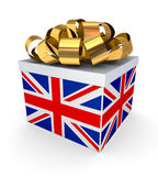 Giftbox with a british flag. Stock Image