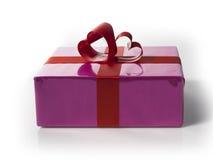 Giftbox com cervo vermelho laços dados forma Foto de Stock Royalty Free
