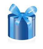 Giftbox con il nastro. Fotografie Stock