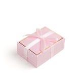 Giftbox cor-de-rosa imagens de stock