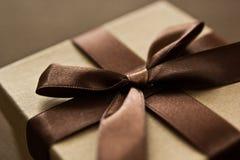 Giftbox de Brown Foto de archivo libre de regalías