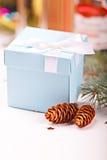 Giftbox de la Navidad Fotografía de archivo