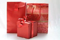 Giftbox e giftbags Imagens de Stock Royalty Free