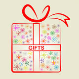 Giftbox Gifts Shows Giving Present And Celebrate Royalty Free Stock Images
