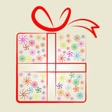 Giftbox Gifts Shows Occasion Surprise And Wrapped Royalty Free Stock Photography