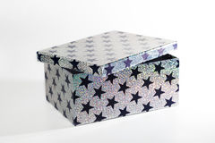 Giftbox with glitters and stars, isolated Stock Photos