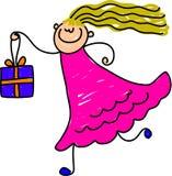 Giftbox Kind Lizenzfreies Stockbild