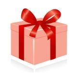 Giftbox met rood lint. royalty-vrije illustratie