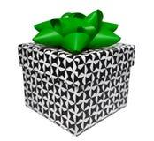 Giftbox mit Schwarzweiss-Muster Lizenzfreie Stockfotografie