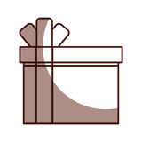 Giftbox present  icon. Vector illustration design Royalty Free Stock Photography