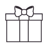 Giftbox present isolated icon. Vector illustration design Stock Images