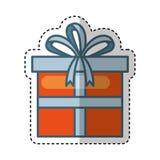 Giftbox present isolated icon. Vector illustration design Royalty Free Stock Photo