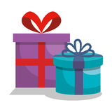 Giftbox presents set icons. Illustration design Stock Photography