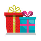 Giftbox presents set icons. Illustration design Royalty Free Stock Photography
