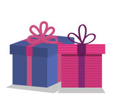 Giftbox presents set icons. Illustration design Royalty Free Stock Photo