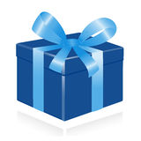 Giftbox with ribbon. Royalty Free Stock Photography