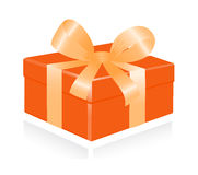 Giftbox with ribbon. Stock Images