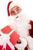 giftbox santa Στοκ φωτογραφίες με δικαίωμα ελεύθερης χρήσης