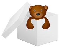 Giftbox with tedy bear Stock Photo