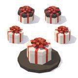 Giftbox verde Imagens de Stock