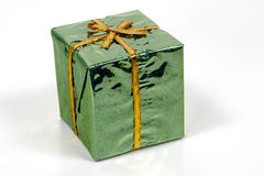 Giftbox vert Photo stock