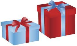 giftboxes рождества иллюстрация вектора