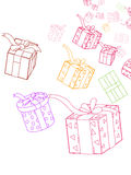 Giftboxes Royalty Free Stock Photos