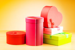 Giftboxes against gradient Royalty Free Stock Photo