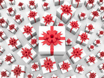 Giftboxes background Royalty Free Stock Photos
