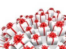 Giftboxes che forma sfera Fotografia Stock