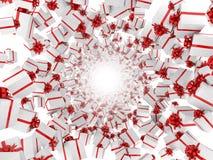 Giftboxes che forma traforo Fotografie Stock
