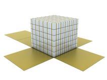 giftboxes grupperar white Fotografering för Bildbyråer