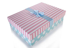 The giftboxes isolated on the white background Stock Photo