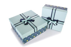 The giftboxes isolated on the white background Stock Image