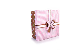 The giftboxes isolated on the white background Royalty Free Stock Image