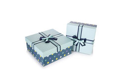 The giftboxes isolated on the white background Royalty Free Stock Images