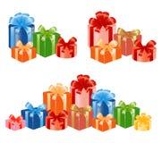 Giftboxes mit Farbband. Lizenzfreies Stockfoto