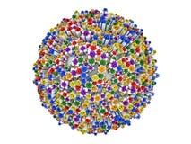 Giftboxes na esfera grande Ilustração do Vetor