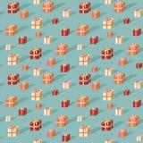 Giftboxes pattern Stock Photo