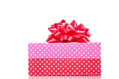 Giftboxes punteggiati variopinti Fotografia Stock