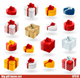 Giftboxes set Royalty Free Stock Image